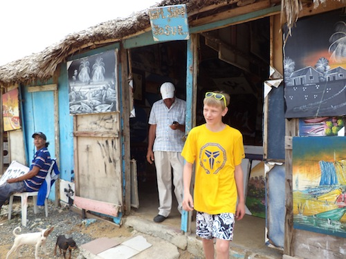 Justin – honing his bartering skills in the Dominican